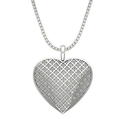 VVS1 F Heart Pendant Necklace 0.60Ct Natural Diamond 14KT White Yellow Rose Gold