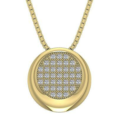 Genuine Diamond Circle Pendant Necklace I1 H 0.45Ct 14Kt Yellow Gold Appraisal