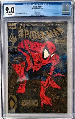 Cgc 9.0 Spider-Man #1 .. Gold Edition .. Todd Mcfarlane ..
