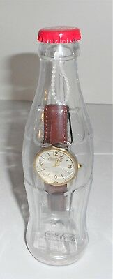 Coca-Cola Coke Bottle Bank With Quartz Wrist Watch