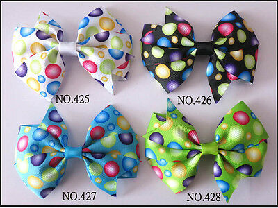 """50 BLESSING Good Girl Custom Boutique 3.5"""" Wendy Bow Clip 474 No. Wholesale"""