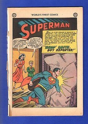 WORLD'S FINEST SUPERMAN #58 BACK COVER ONLY BUT COMPLETE GOLDEN AGE DC comics