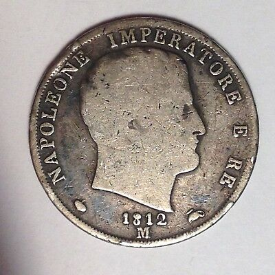 1812M 1/0 2 Lire Kingdom Of Napoleon Italian States - Scarce! Nice! Must Look!!