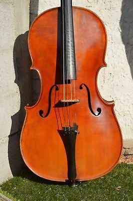 Old Cello with French Charles RESUCHE 1911 label, nice condition!
