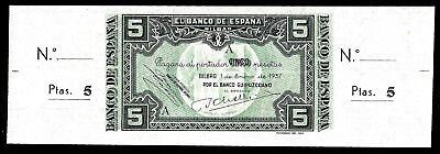 5 Pesetas From Spain 1937 Unc   MM3