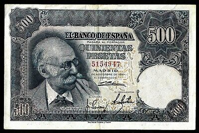 500 Pesetas From Spain 1951  MM3
