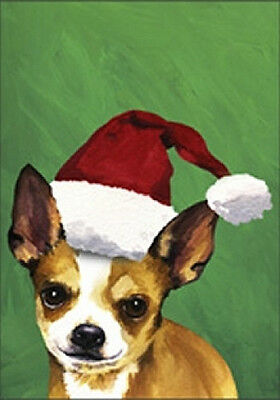 Large Indoor/Outdoor Christmas Flag BVV - Chihuahua 27046