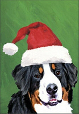 Large Indoor/Outdoor Christmas Flag BVV - Bernese Mountain Dog 27051