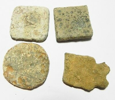 Zurqieh - As3594- Ancient Greek. Lot Of 4 Lead Weights. 300 B.c