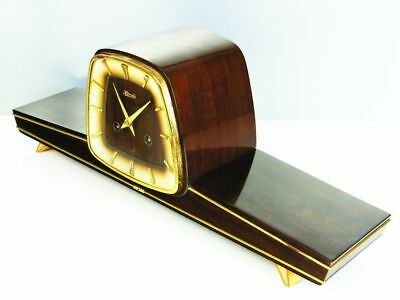 Later Art Deco Westminster Chiming Mantel Clock From Hermle Ankra  Germany