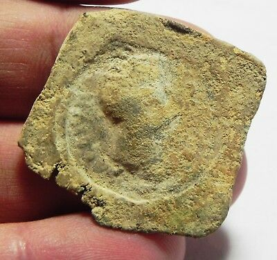 Zurqieh - As3605- Ancient Greek Or Roman. Lead Seal Impression. 300 B.c - 200A.d