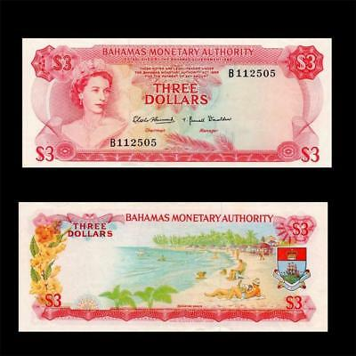 1968 British Colony Bahamas (Qe Ii) , $3 - » Cv $90 «