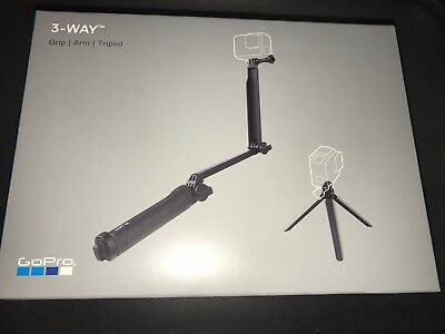 GoPro 3-Way Grip Arm Tripod Part # AFAEM-001 100% authentic brand new sealed.
