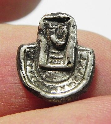 Zurqieh - As3631- Ancient Holy Land. Phoenician Silver Pendant. 7Th Cent. B.c