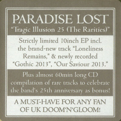 "Paradise Lost ‎– Tragic Illusion 25   Vinyl, 10"", Limited Edition + cd+download"