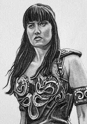 ORIGINAL ACEO sketch card XENA WARRIOR PRINCESS Lucy Lawless