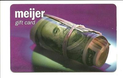 Meijer Roll of Money Gift Card No $ Value Collectible