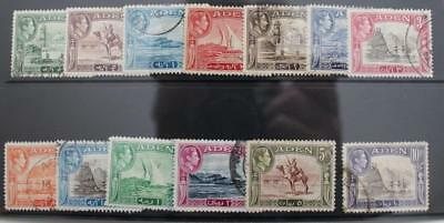 ADEN 1939-48 KGVI SG16-27 Full Set to 10R Good to Fine Used Cat £40