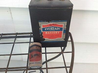 Two vintage EVEREADY batteries No. 935 & No. 7395