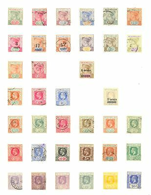 Seychelles Collection 110 Stamps --Most */0 --Most Vf