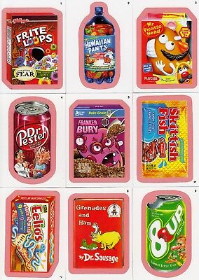 Wacky Packages Ans 9 2011 Topps Parallel Base Card Set Of 55 Pink Red Orange