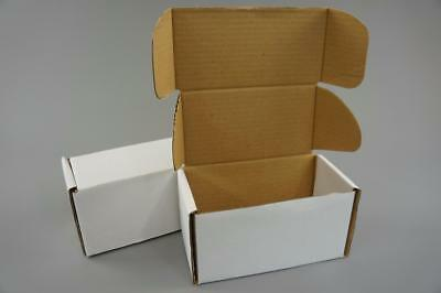 100 White Postal Cardboard Boxes Mailing Shipping Cartons Small Size Parcel OP8
