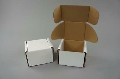 100 White Postal Cardboard Boxes Mailing Shipping Cartons Small Size Parcel OP5