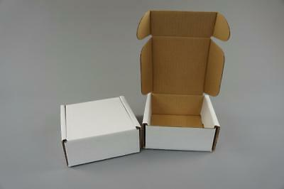 100 White Postal Cardboard Boxes Mailing Shipping Cartons Small Size Parcel OP6