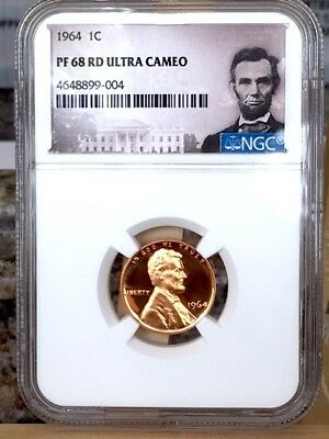 1964 Lincoln Cent NGC PF 68 Red Ultra Cameo * Price Guide $80 *