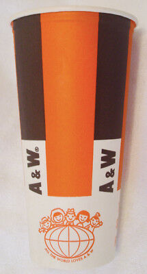 RARE Vintage 60s Paper Cup A&W ROOT BEER drive in restaurant soda pop mug bottle