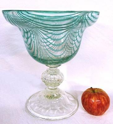 HUGE STUNNING Early NAILSEA Flint Glass COMPOTE Rings Like a Bell HEATH AG111 NR