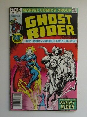 1980 Marvel Comic GHOST RIDER Vol 1 #50 Dble Issue 1st Appearance Nightrider 6FN