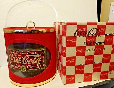 COCA~COLA Brand Ice Bucket Delicious & Refreshing 5 Cent Fountain Bottle Drinks