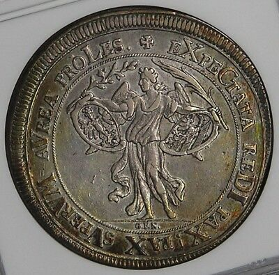 Nurnberg 1696 Silver City View Angel Thaler NGC XF45