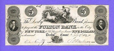 1825 $2 Derby Connecticut THE DERBY BANK Fulton Bank NY VERY HIGH GRADE
