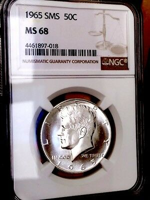 1965 Silver Kennedy NGC SMS 68 * Price Guide $335 - Premium Quality *