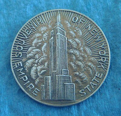 Vintage Brass Token: Empire State Building; Seal Of The State of New York