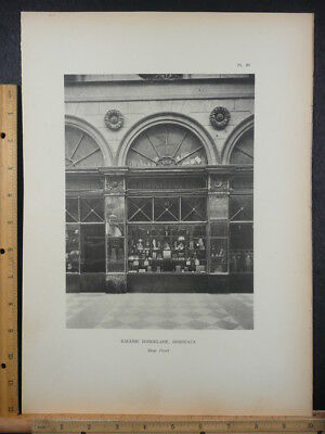 Rare Antique Original Vintage Galerie Bordelaise Bordeaux Photogravure Art Print