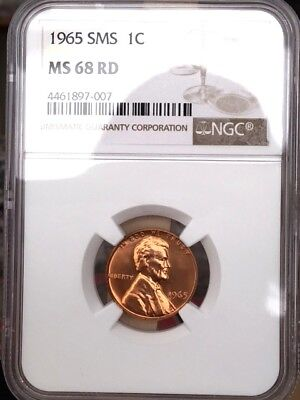 1965 Lincoln Cent NGC SMS 68 Red * Price Guide $1,000 - Rare!  *