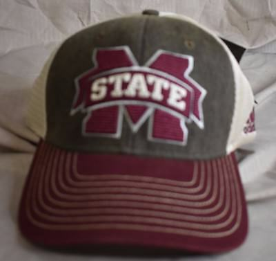 613d77ccf9e04 ADIDAS MENS MISSISSIPPI State Bulldogs Snapback Hat Cap NWT -  9.99 ...