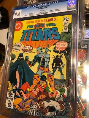 new teen titans 2 cgc 9.6 white pages first deathstroke