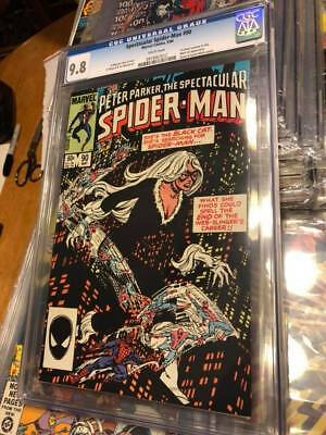 spectacular spider-man 90 cgc 9.8 white pages first black costume in title