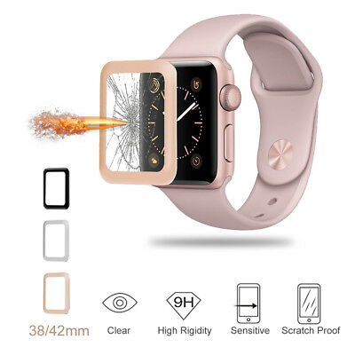 Slim Tempered Glass Screen Protector Film for Apple Watch iWatch 38mm 42mm