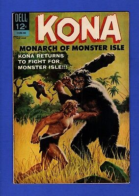 Kona Monarch Of Monster Isle #10 Fn- Silver Age Dell Comics