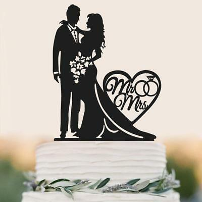 Mr & Mrs Bride Groom Acrylic Wedding Party Love Cake Topper Favors Decoration Y2