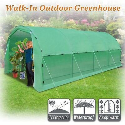 New Portable Greenhouse Heavy Duty 20'x10'x7' Walk In Plant Garden w Snap Clamps