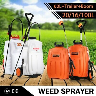 20/60L ATV Weed Sprayer Boom Spot Spray Water Pump Tank Chemical Garden Farm