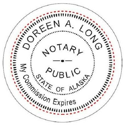 State of ALASKA  | Custom Round Self-Inking Notary Public Stamp Ideal 400R