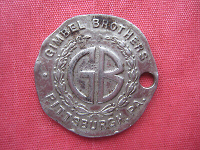 Vintage Gimbel Bros Pittsburgh Pa Dept Store Key Fob If Found Or Accident Token