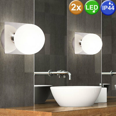 2er set led wand leuchten 6 watt au en beleuchtung. Black Bedroom Furniture Sets. Home Design Ideas